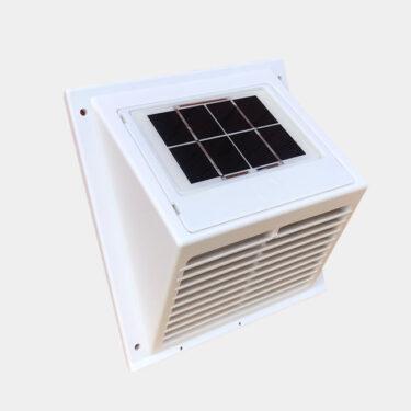 MiniVent solar panel fan, integrated panel white