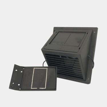 SunWind aurinkokennotuuletin irrallisella aurinkopaneelilla musta