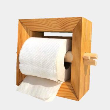 Puinen WC-Paperiteline