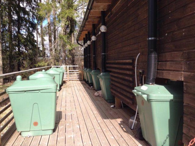 Green Toilet käymälät Sattmarkissa
