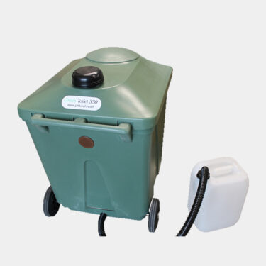 Green composter for toilet waste