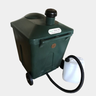 Composter for freezing toilet waste