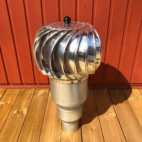 Pikkuvihrean Tuulituuletin metallinvärinen edestä