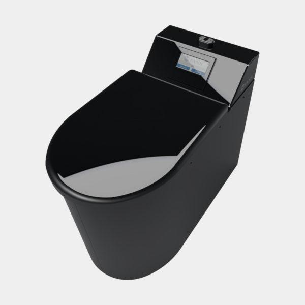 Päältäpäin Roslagen alipaine wc musta