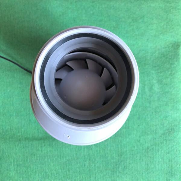 Pikkuvihreä käymälätuuletin 75 mm