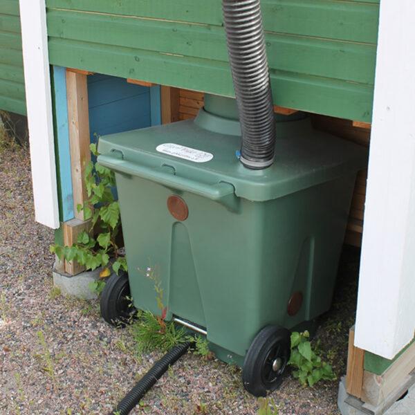 Green Toilet 120 Family asennettuna takaa
