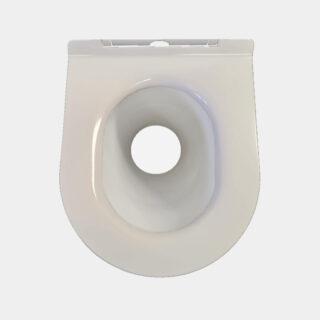 Non-separating porcelain seat