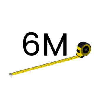 6 metriä (+70.00 €)
